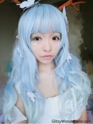 Baby Blue Gradual Change Wig