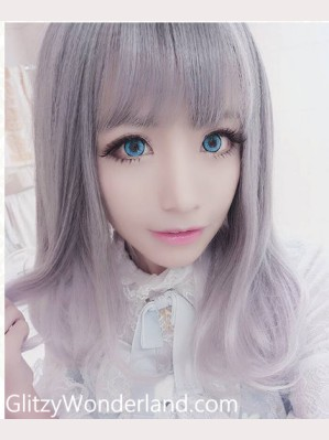 Gray Gradual Change wig (Shoulder Length)