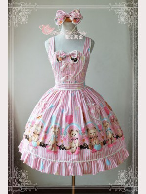 "Magic Tea Party ""Bear & Balloon"" Lolita Dress JSK"