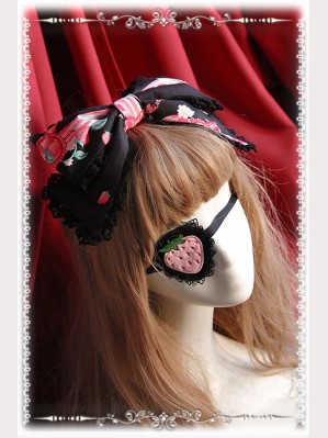 "Infanta ""Strawberry Little Chef"" Matching Lolita Eye Mask"