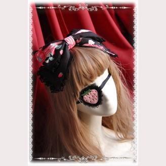 "Infanta ""Strawberry Little Chef"" Matching Lolita Eye Mask"