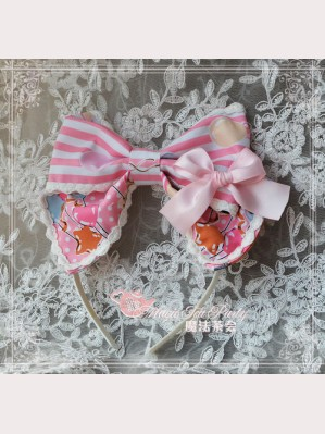 "Magic tea party ""Bear & Balloon"" Lolita Headbow KC"