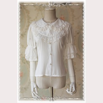 Infanta Striped Puff Sleeve Lolita Blouse