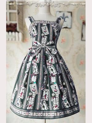 Infanta Rabbit & Poker mini lolita dress JSK
