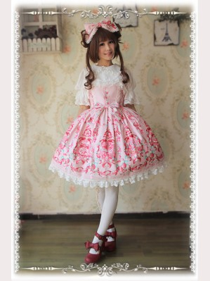"Infanta ""Strawberry Little Chef"" Lolita Dress JSK"