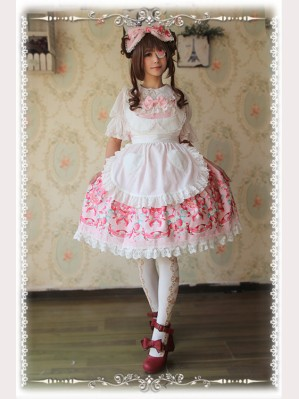 "Infanta ""Strawberry Little Chef"" JSK Matching Apron"