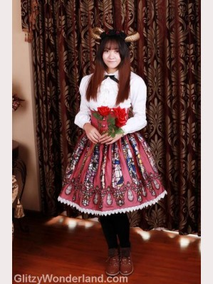 Souffle Song Catherdral lolita skirt high-rise SK (65cm/ 80cm)