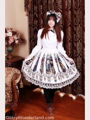 Souffle Song Catherdral lolita skirt SK (55cm)