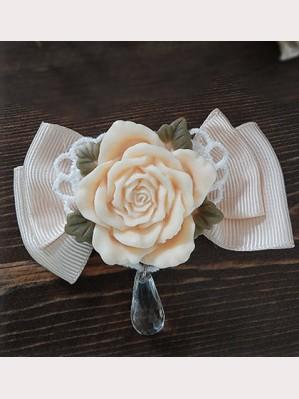 Infanta lolita vintage rose hairclip