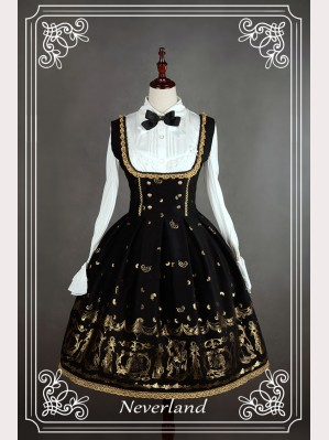 "Souffle Song ""Golden Swan Lake"" Lolita dress JSK 2"