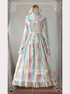 Magic tea party colorful day lolita dress OP