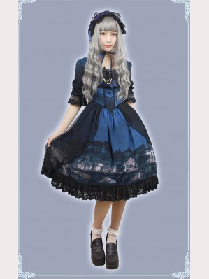 Souffle Song Castle Moonlight Lolita Dress OP