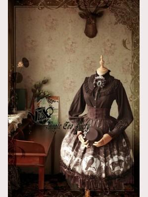 Magic Tea Party Raven And Writing-Desk Lolita Skirt SK