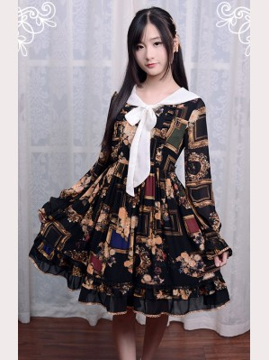 "Souffle Song ""Picture Frames"" Lolita dress OP"
