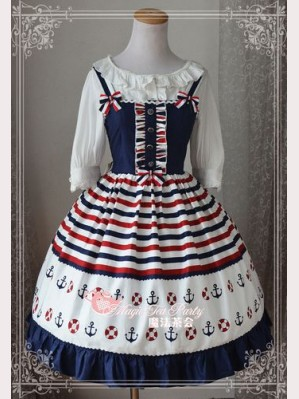 "Magic tea party ""blue ocean"" lolita dress JSK"