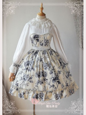 "Magic Tea Party ""Blue & White"" Lolita Dress OP"