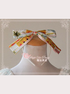 "Magic tea party ""Seaside Town"" Lolita Headbow KC"