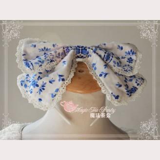 "Magic tea party ""Orchid"" Lolita Headbow KC"