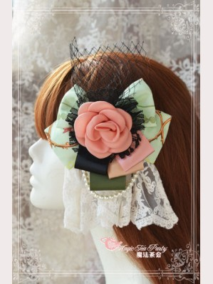 "Magic tea party ""Spring of Europa"" Lolita hairclip (for OP)"