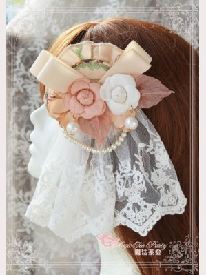 "Magic tea party ""Spring of Europa"" Lolita hairclip (for JSK)"