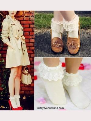 Lolita Ankle Socks (7 colors) ** Buy 3 get 1 free