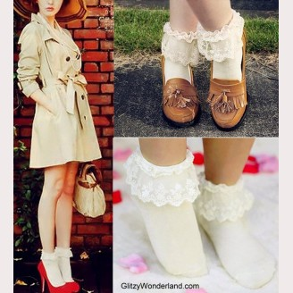 Lolita Ankle Socks (7 colors) ** Buy 3 get 1 free