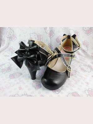 Lolita bows heels shoes