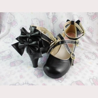 Lolita bows heels shoes