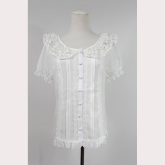 Lolita short sleeves blouse