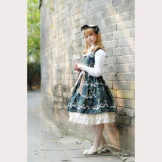 Milu Forest Antique scissors lolita dress JSK & KC Set (long version)