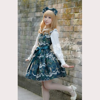 Milu Forest Antique scissors lolita dress JSK & KC Set (Short version)
