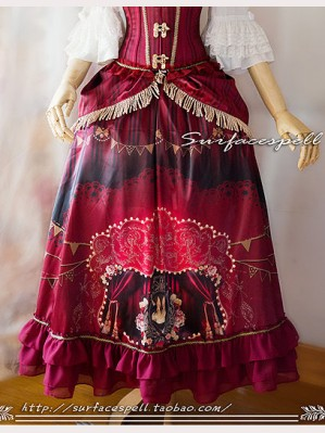 "Surface Spell ""Freak show"" Skirt & Overskirt Set"