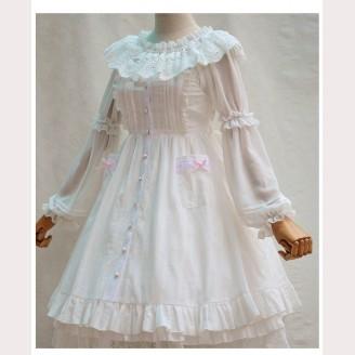 White Elegant Retro Lolita Dress JSK