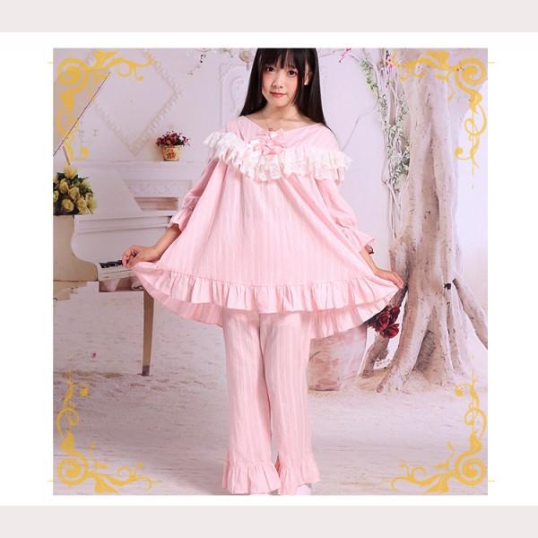 2a0cc3803 Lolita Cotton   Lace Pajamas Set