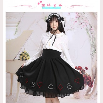 Black Poker Lolita Skirt