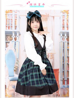 Plaid Lolita Winter Dress JSK