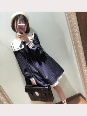 Navy Collar Lolita Dress OP