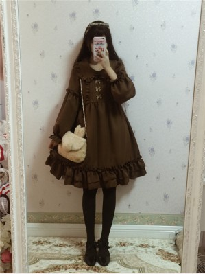 Hazelnut latte Lolita Dress OP