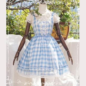Tiny Garden Summer Plaid Lolita Dress JSK