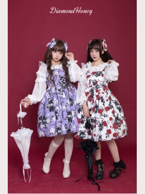 Diamond Honey Playful girl rose devil doll Lolita Dress JSK