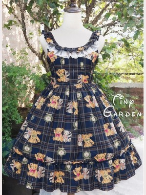 Tiny Garden Teddy Bear Lolita Dress JSK