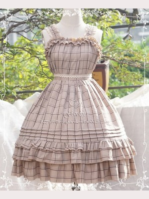 Tiny Garden Plaid Winter Lolita Dress JSK