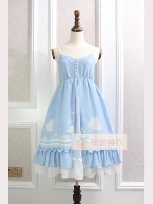 Stars, Moon & Cat Lolita Dress JSK