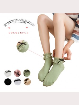Lolita Lace Top Ankle Socks (8 colors) ** Buy 2 get 1 free