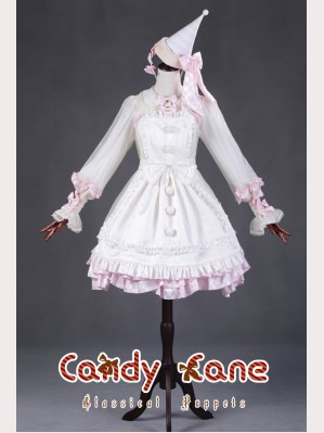 "Classical Puppets ""Candy Cane"" Full Set (Dress + Apron + Hat)"