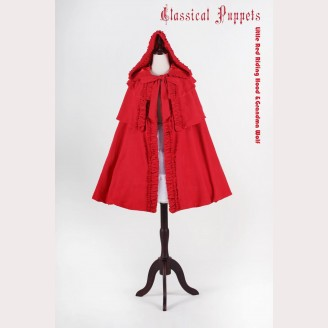 Classical Puppets Little Red Riding Hood & Grandma Wolf Cloak