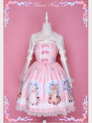 "Diamond Honey ""Sweet Little Tiger"" Lolita Dress JSK"