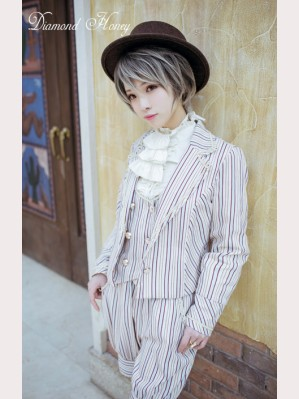 Diamond Honey Vintage Striped outfits, Jacket, Vest  & Shorts