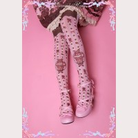 Diamond Honey Chocolate Bears Lolita Thigh-high socks