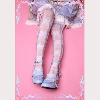Diamond Honey Rose chandelier Lolita Thigh-high socks